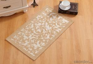 Blue and White Color Chenille Polyester Jacquard Floor Carpets and Rugs