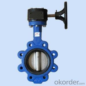 Ductile Iron wafer butterfly valves DN410