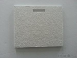 Insulating ceramic fiber board used for water heater