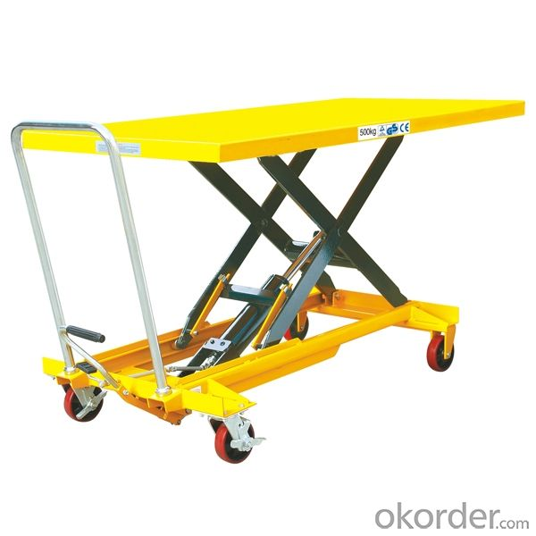 Manual Hydraulic High Rise Lift Pallet Truck