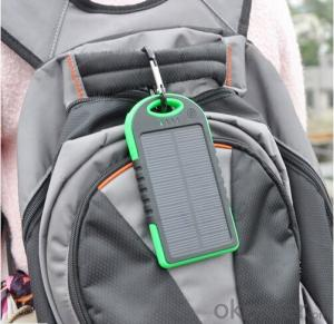 Solar Power Bank 5000mAh Waterproof  for Mobile Phone and Tablet