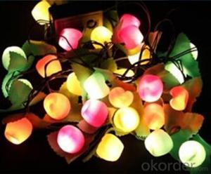Cotton Ball String Lights Led Holiday Lights For Home Decoration