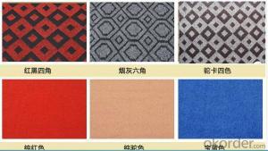 Competitive Price Single Velour Jacquard Non Woven Carpet