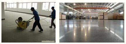Concrete Floor Hardener  a pre-blended, non-metallic floor hardener