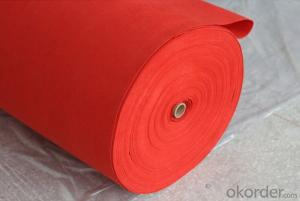Plain red polyester booth exhibition carpet