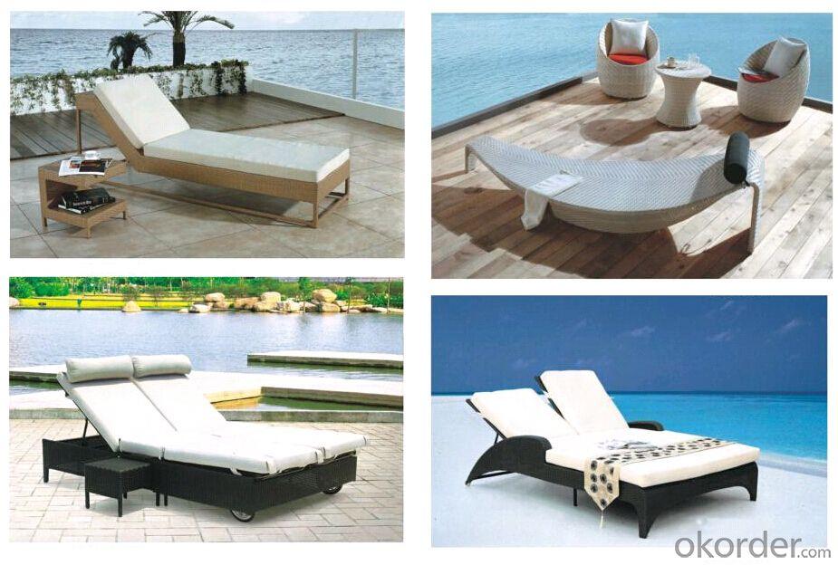 Outdoor Chaise Lounge / Sling Sun Lounger / Textliene Sunbed