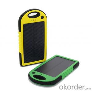 5000mAh Waterproof Solar Power Bank for Mobile Phone and Tablet