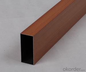 Painted Aluminium Square Tube Profile used on Furnitures