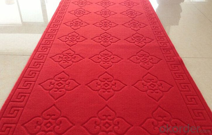 Non woven punched velour jacquard carpet