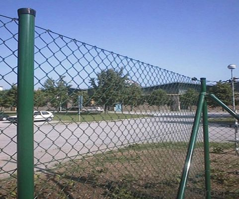 Galvanized Chain Link Fence( Diamond Wire Mesh), PVC Coated Chain Link Fence