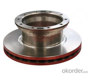 Auto spare parts HT250 casting iron trailer and truck brake disc