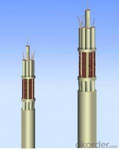 Circular Elevator Control Cables Fluoroplastic Insulated RF Coaxial Cable
