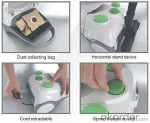 Middle Bagged Canister Vacuum Cleaner with Protective Devices