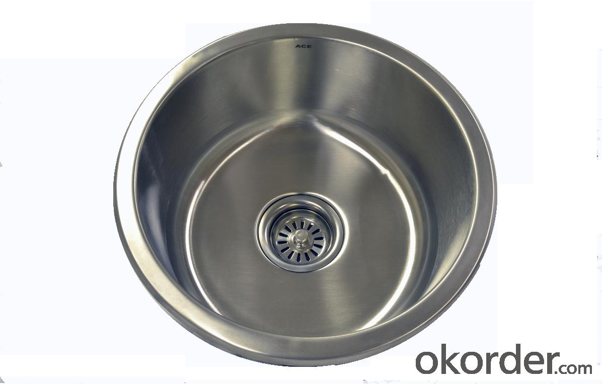 Round Sink 410mm Diameter Stainless Steel Sink For Your Kitchen/Bathroom