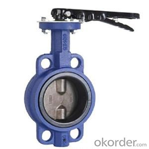 Ductile Iron wafer butterfly valves DN80