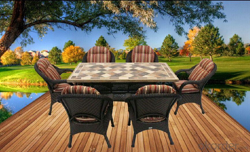 outdoor rattan/wicker conversation sofa set, outdoor garden furniture