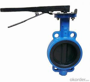 Ductile Iron wafer butterfly valves DN430