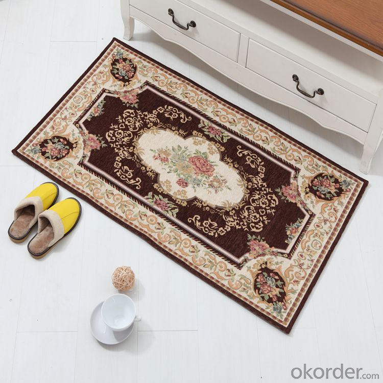 Best Quality Chenille Polyester Jacquard Floor Carpets and Rugs