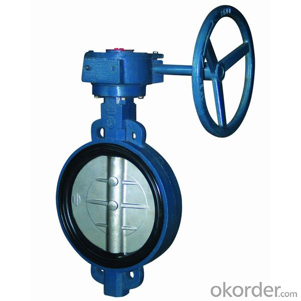 Ductile Iron wafer butterfly valves DN350