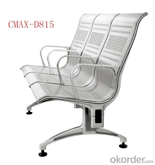 3- Seater Modern Stainless steel Waiting Chair design CMAX-D815