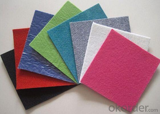Heavy latex backing plastic film exhibition carpet