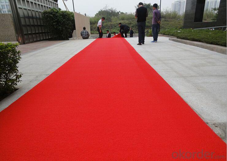 Durable hotsell red plain velour carpet