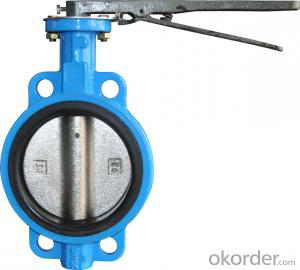 Ductile Iron wafer butterfly valves DN250