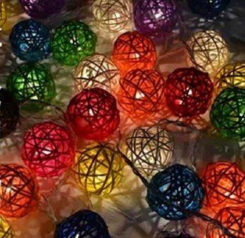 Big pompon Rice Light Decovative Light Holiday Light