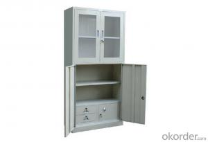 Metal Locker Office School Glass Double Door Furniture Steel Cabinet