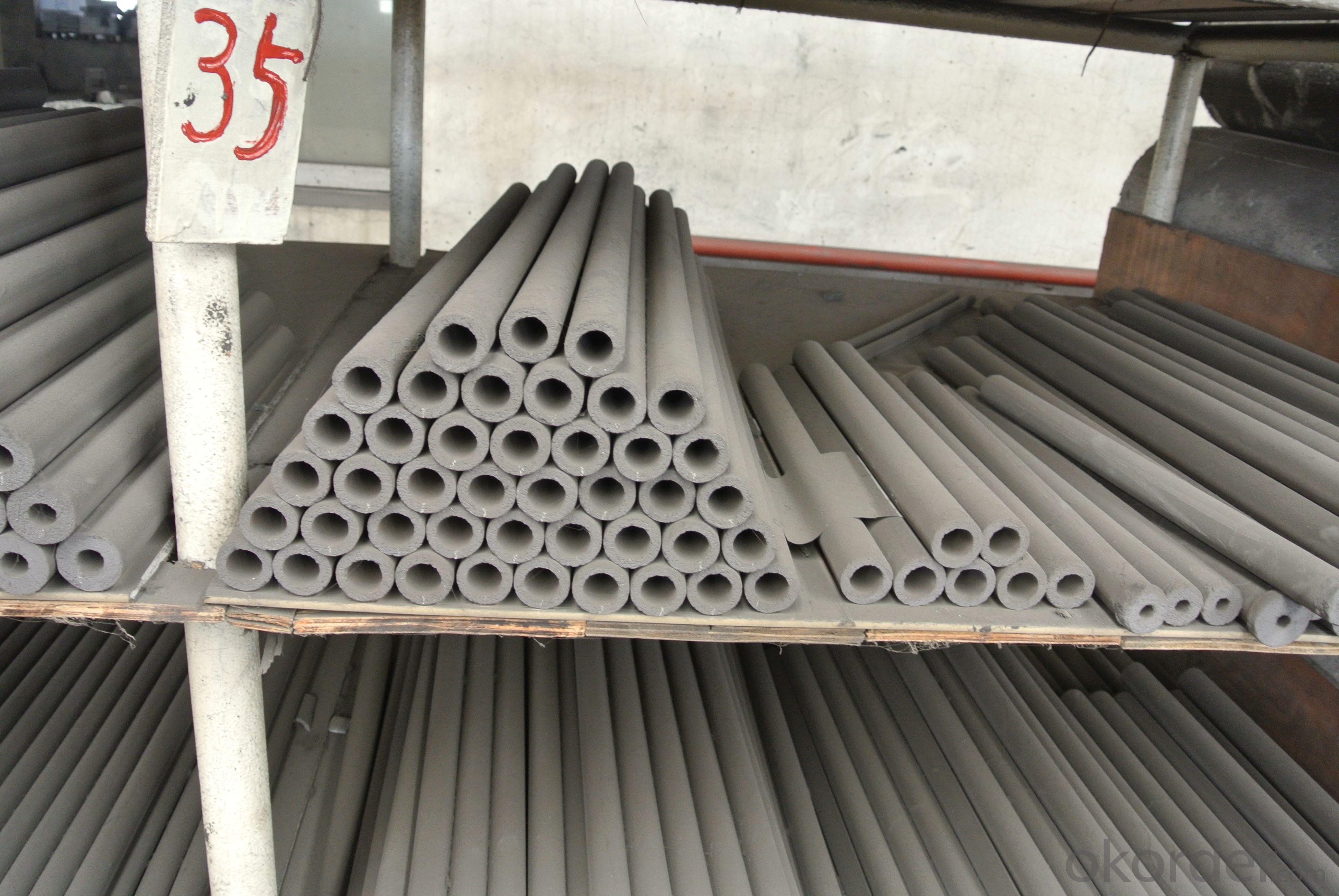 Silicon carbide thermocouple protection tube with silicon nitride