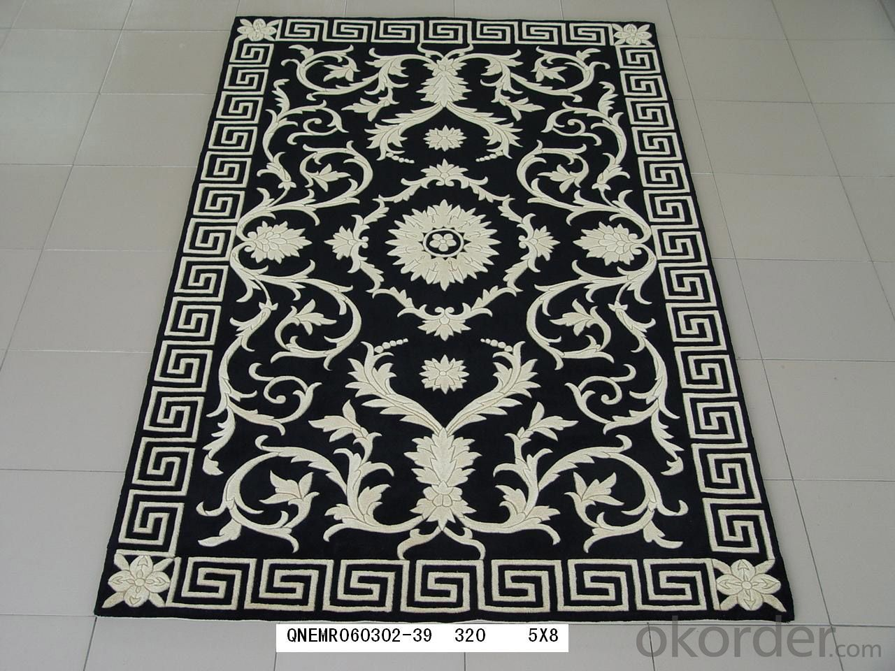 Wool Hand Made Hotel Lobby Flooring Carpets