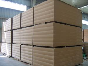 Plain Medium Density Fiber Board 16x1830x3660mm Light Color