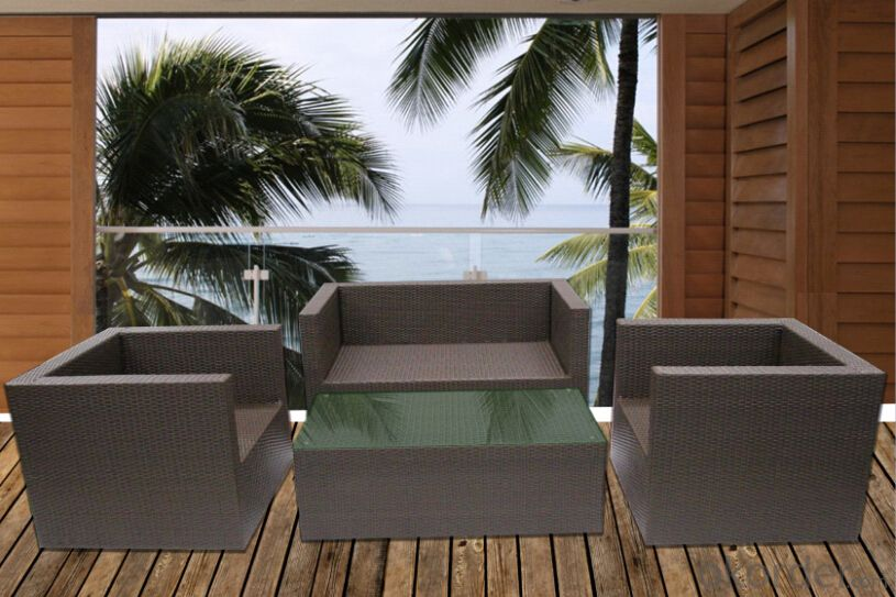 Aluminum Frame Outdoor Rattan Sofa Sets/ Luxury Garden Rattan Furniture Sets