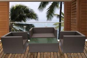 Aluminum Frame Outdoor Rattan Sofa Sets/ Luxury Garden Rattan Furniture Sets