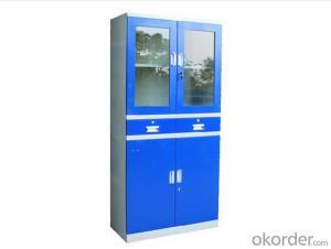 Metal Locker Office Furniture Steel Cabinet School Glass Locker Double Door