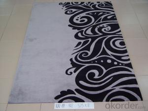 Hot Modern Fashion Custom Logo Design Hand Made Wool Mat Rug Carpet