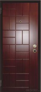 Steel wooden armored entry door Italian style