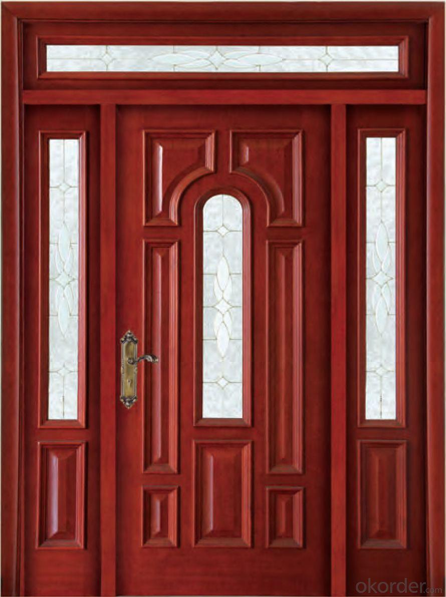 Glass solid wooden  door