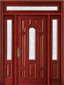 Glass solid wooden  door