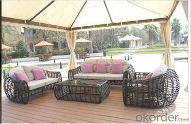 Aluminium Cane Rattan Garden Outdoor Salon Furniture Set