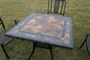 Casting Aluminum Marble Outdoor Garden Set Furnitures