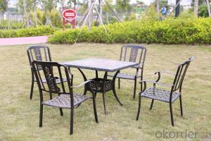Casting Aluminum Marble Outdoor Garden Set Furnitures