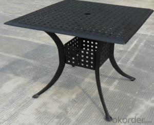 Rectangle Pedestal Dining Table-Cast Aluminium Dining Table