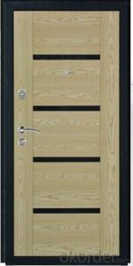 Steel MDF Door with Black powder coated  PVC skin and Rock Wool Infilling