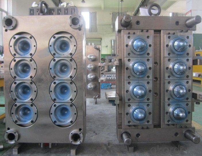PET Preform Mould Wide Mouth Preform Hot Runner 8 Cavity