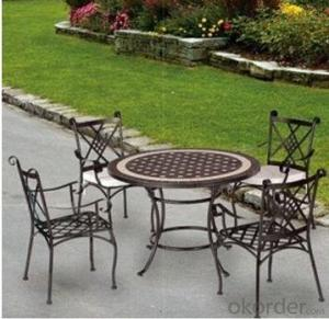 Cast Aluminum Dining Table Set Garden Table