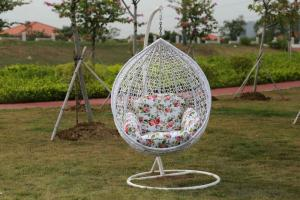 Anit-UVPE Rattan Egg Swing Chair For Outdoor