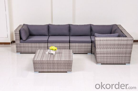 Outdoor Patio PE Rattan Sofa Sets with Aluminum Frame