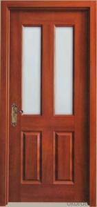 Solid wooden  door with glass