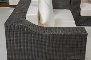 Outdoor Patio Sofa Set Furniture with Hand-made Rattan